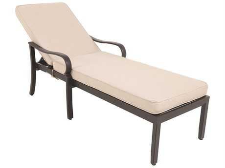 Sunvilla Laurel Cushion Aluminum Chaise Lounge in Sailcloth Sahara