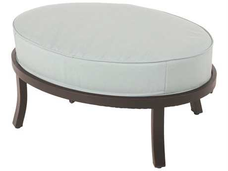 Sunvilla Universal Ottoman Aluminum in Canvas Spa Fabric / Royal Pewter Finish
