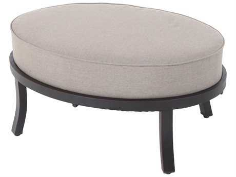 Sunvilla Universal Ottoman Aluminum in Cast Shale Fabric / Royal Pewter Finish