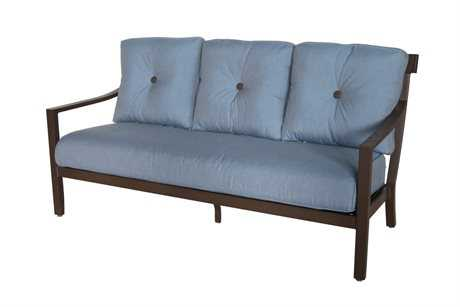 Sunvilla Allegro Cushion Aluminum Sofa in Spectrum Denim (3 Piece Seat Cushion)