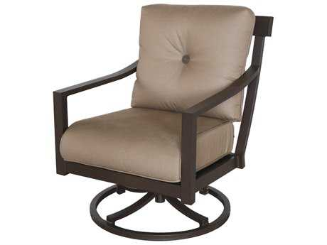 Sunvilla Allegro Cushion Aluminum Swivel Lounge Chair in Flagship Cocoa