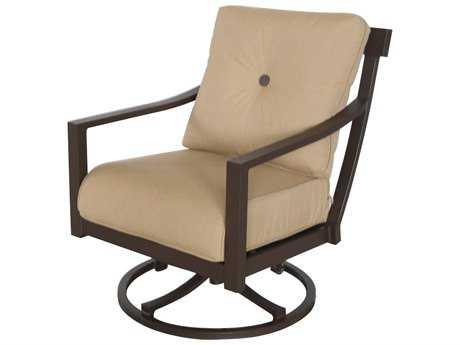 Sunvilla Allegro Cushion Aluminum Swivel Lounge Chair in Spectrum Sesame