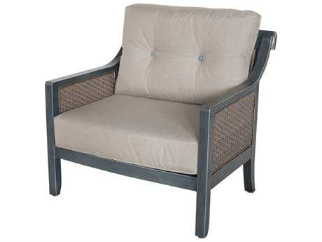 Sunvilla Belize Aluminum Wicker Cuddle Chair in Cast Shale SUNA02220002FCLE