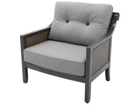 Sunvilla Belize Aluminum Wicker Cuddle Chair in Sailcloth Shadow
