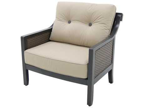 Sunvilla Belize Aluminum Wicker Cuddle Chair in Spectrum Sand SUNA02220002FCLU
