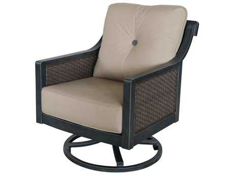 Sunvilla Belize Aluminum Wicker Swivel Lounge Chair in Spectrum Sand SUNA02530002FCLU