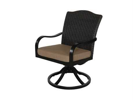 Sunvilla Indies Aluminum Wicker Dining  Swivel Chair
