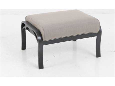 Sunvilla Laurel Cushion Aluminum Ottoman in Cast Shale