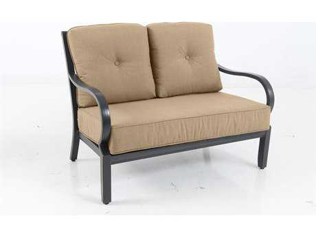 Sunvilla Laurel Cushion Aluminum Loveseat in Spectrum Sesame