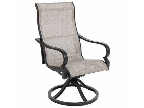 Sunvilla Laurel Sling Aluminum Dining Swivel Chair