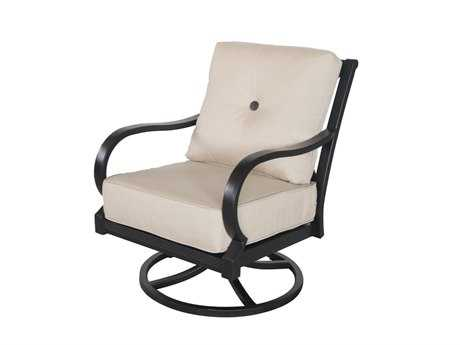 Sunvilla Laurel Cushion Aluminum Swivel Lounge Chair in Sailcloth Sahara