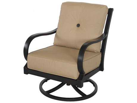 Sunvilla Laurel Cushion Aluminum Swivel Lounge Chair in Spectrum Sesame