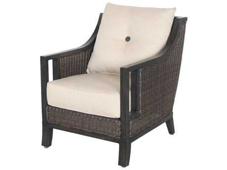 Sunvilla Pennant Aluminum Wicker Lounge Chair in Sailcloth Sahara SUNA13510002FCTL
