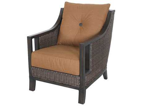 Sunvilla Pennant Aluminum Wicker Lounge Chair in Canvas Teak