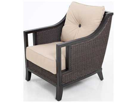 Sunvilla Pennant Aluminum Wicker Lounge Chair in Flagship Stone