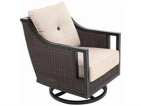 Sunvilla Pennant Aluminum Wicker Lounge Swivel Chair