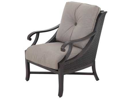 Sunvilla Somerset Cast Aluminum Wicker Lounge Chair in Sailcloth Shadow SUNA14510002FCCS