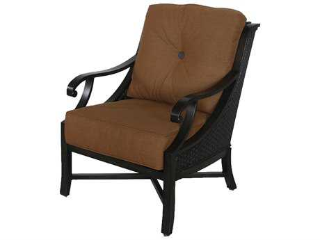 Sunvilla Somerset Cast Aluminum Wicker Lounge Chair in Canvas Teak
