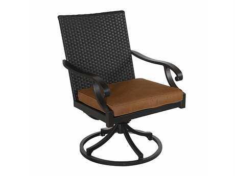 Sunvilla Somerset Cast Aluminum Wicker Dining Swivel Chair