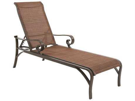 Sunvilla Riva Sling Cast Aluminum Chaise in Weyburn Tan