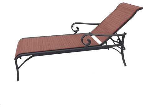 Sunvilla Riva Sling Cast Aluminum Chaise in Weyburn Redwood
