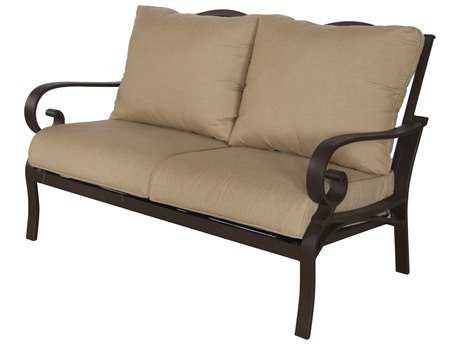 Sunvilla Riva Cushion Cast Aluminum Loveseat Heather Beige