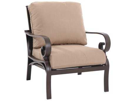 Sunvilla Riva Cushion Cast Aluminum Lounge Chair in Heather Beige SUNA18510002FCPH