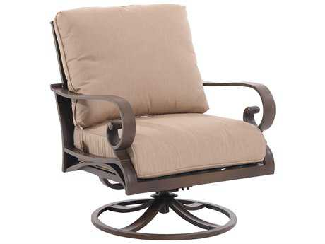 Sunvilla Riva Sling Cast Aluminum Swivel Lounge Chair in Heather Beige SUNA18530002FCPH