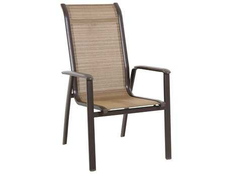 Sunvilla Florence Sling Aluminum Chair Stackable in Weyburn Tan