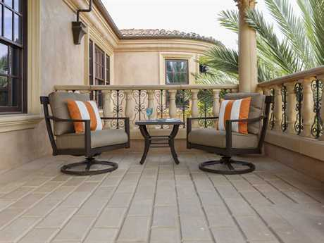 Sunvilla Allegro Aluminum Lounge Set in Flagship Cocoa