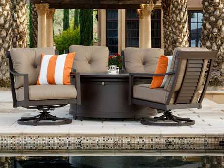 Sunvilla Allegro Aluminum Lounge Set in Flagship Cocoa