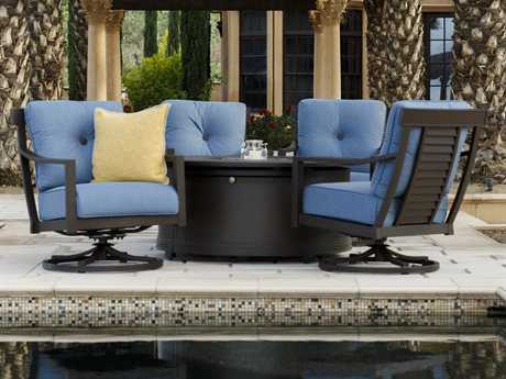 Sunvilla Allegro Aluminum Lounge Set in Spectrum Denim