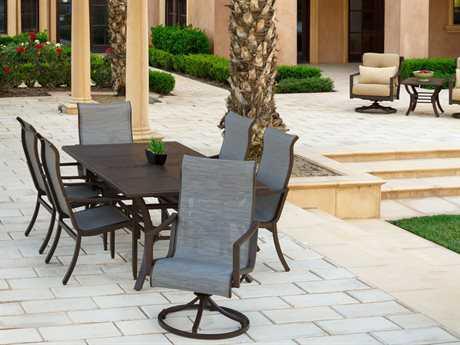 Sunvilla Allegro Aluminum Dining Set in Pria Tweed