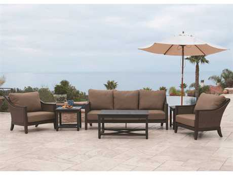 Sunvilla Biscay Aluminum Wicker Lounge Set SUNBISCAYLNGESET