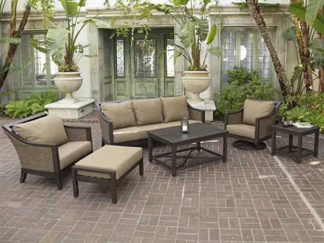 Sunvilla Biscay Aluminum Wicker Lounge Set SUNBISCAYLNGESET10