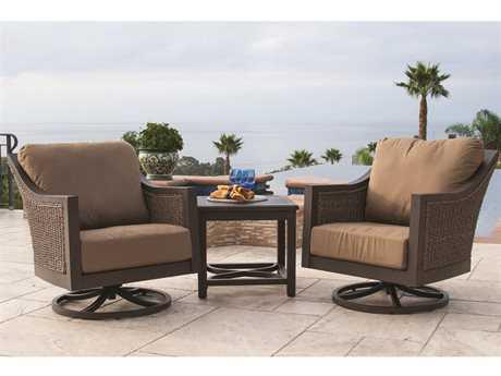 Sunvilla Biscay Aluminum Wicker Lounge Set SUNBISCAYLNGESET2