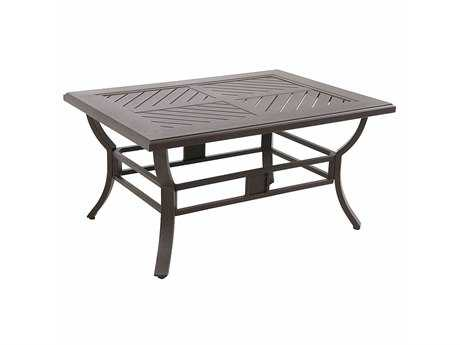 Sunvilla Allegro Cast Aluminum 44 x 32 Rectangular Coffee Table in Sunset