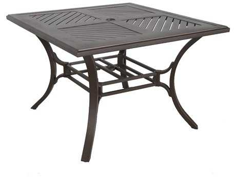 Sunvilla Allegro Cast Aluminum 44 Square Dining Table in Sunset