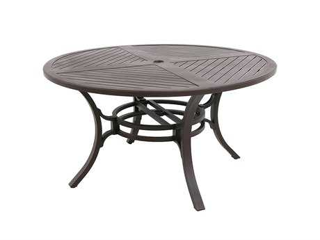 Sunvilla Allegro Cast Aluminum 54 Round Dining Table in Sunset
