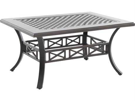 Sunvilla Aluminum 44 x 32 Rectangular Cast Top Coffee Table in Sunset