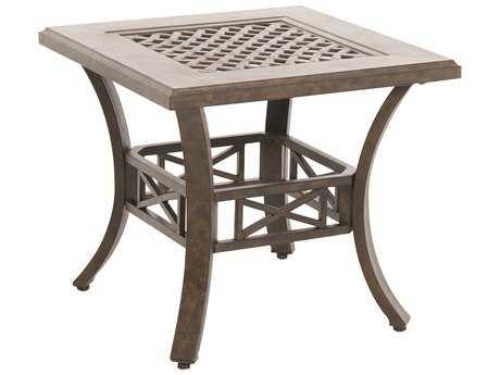 Sunvilla Aluminum 24 x 22.25 Spanish Gold End Table w/ Cast Top