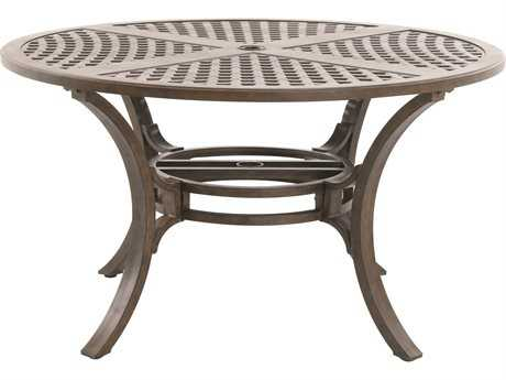 Sunvilla Aluminum 54 Round Cast Top Dining Table in Sunset