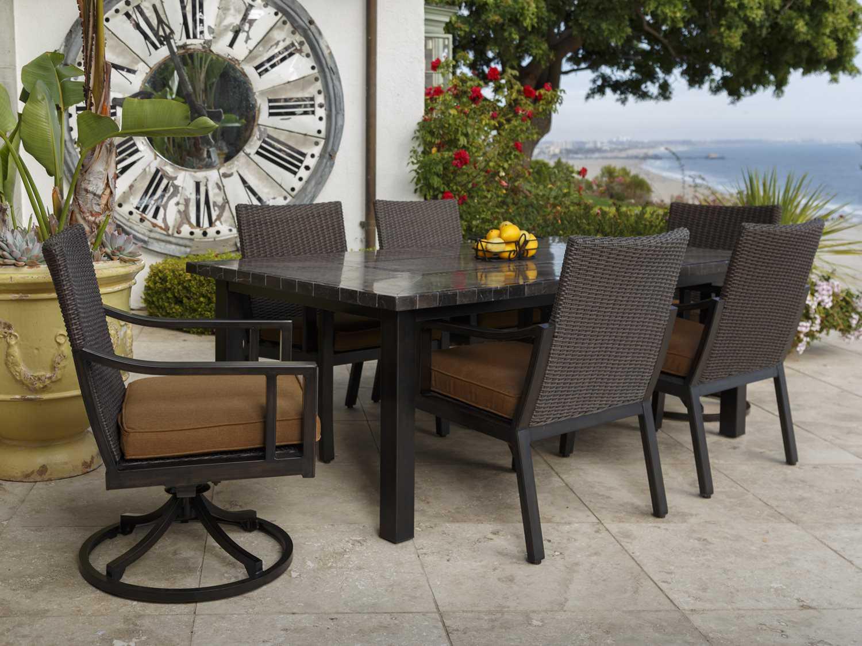 Sunvilla Pennant Aluminum 84 X 44 Rectangular Stone Top