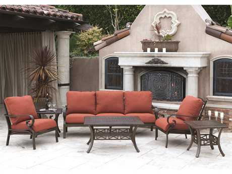 Sunvilla Riva Aluminum Conversation Cushion Aluminum Lounge Set SUNRIVALNGESET3