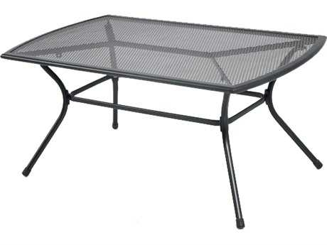 Sunvilla Monaco Steel Mesh 44 x 24 Rectangular Coffee Table in Black