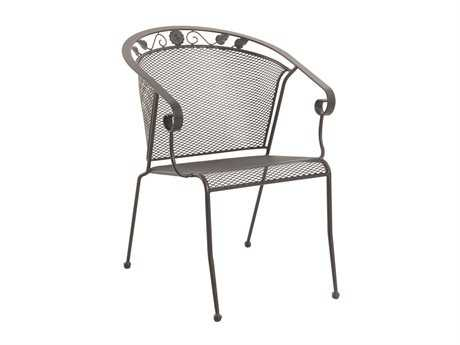 Sunvilla Oxford Iron Mesh Chair Stackable in Black (Sold in 4)