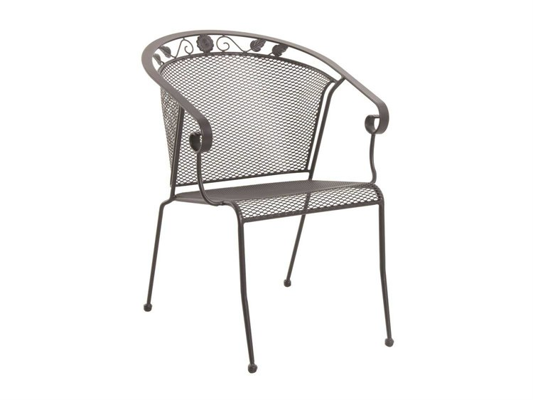 Sunvilla Oxford Iron Mesh Chair Stackable in Black PatioLiving