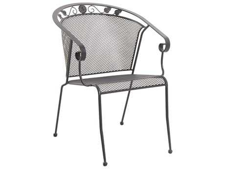 Sunvilla Oxford Iron Mesh Chair Stackable in Graphite (Sold in 4)