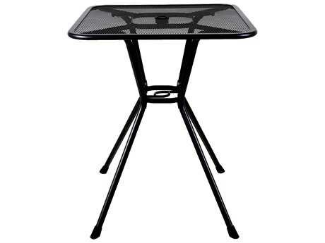 Sunvilla Steel 30 Square Balcony Table in Black