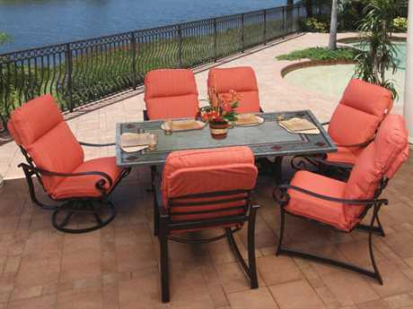 Suncoast Orleans Cushion Cast Aluminum Lounge Set